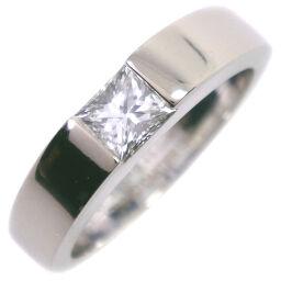 CARTIER カルティエ タンク K18ホワイトゴールド×ダイヤモンド 11号 0.45刻印 レディース リング・指輪【中古】SAランク