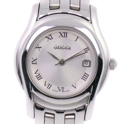 GUCCI Gucci 5500L Stainless Steel Quartz Ladies Silver Dial Watch [Used] A-Rank