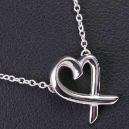 TIFFANY & Co. Tiffany Rubbing Heart Paloma Picasso Silver 925 Ladies Necklace [Used] A-Rank