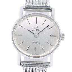 OMEGA オメガ ステンレススチール 手巻き レディース シルバー文字盤 腕時計【中古】