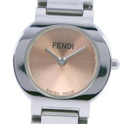 FENDI フェンディ 3050L ステンレススチール クオーツ レディース ブロンズ文字盤 腕時計【中古】A-ランク