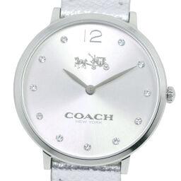 COACH コーチ CA.110.7.14.1352 ステンレススチール×レザー クオーツ ユニセックス シルバー文字盤 腕時計【中古】A+ランク