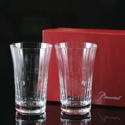 Baccarat Baccarat Milny Highball Glass x 2 / H14cm 390ml 2105761 Crystal Clear Tableware [Used] S Rank