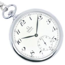 OMEGA オメガ スモセコ ステンレススチール 手巻き ユニセックス 白文字盤 懐中時計【中古】Aランク