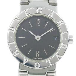 BVLGARI ブルガリ ブルガリブルガリ BB23SS ステンレススチール クオーツ レディース 黒文字盤 腕時計【中古】A-ランク