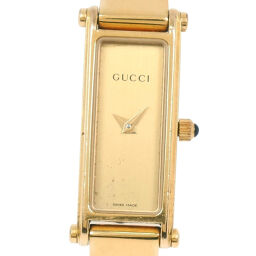 GUCCI Gucci * Junk 1500L GP Gold Quartz Ladies Gold Dial Watch [Used]