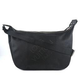 LOUIS VUITTON Louis Vuitton Explora Tour M93616 Damier Jean Canvas Black SP0160 Engraved Men's Shoulder Bag [Used] A Rank