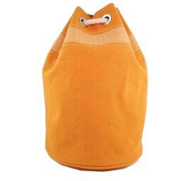 HERMES Hermes Sack Marine Recife MM Drawstring Canvas Orange Unisex Shoulder Bag [Used] A Rank