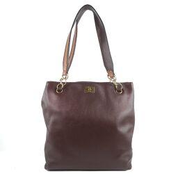 CHANEL Calf Ladies Shoulder Bag [Used] A rank