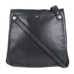 HERMES Hermes Trio Calf Black Unisex Shoulder Bag [Used] A-Rank