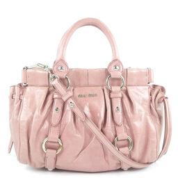 MIUMIU Miu Miu 2way Shoulder Calf Pink Ladies Handbag [Used]