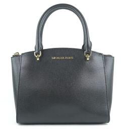 Michael Kors Michael Kors Leather Black Ladies Handbag [Used] A-Rank