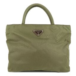 PRADA Prada Nylon Green Ladies Handbag [Used] A-Rank