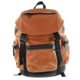 COACH Coach Bag Pack F71976 Leather Brown Unisex Backpack Daypack [Used] A Rank