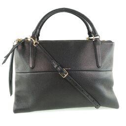 COACH Coach 2WAY Shoulder 28160 Leather Black Unisex Handbag [Used] A rank
