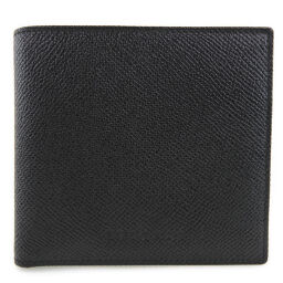 BVLGARI Bvlgari Classico 20253 Leather Black Unisex Bi-Fold Wallet [Used] S Rank