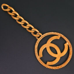CHANEL Chanel Coco Mark Gold Plated 93P Engraved Ladies Charm [Used]