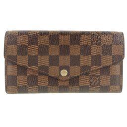 LOUIS VUITTON Louis Vuitton Portofeuil Sara N63209 Damier Canvas Tea Unisex Wallet [Used]