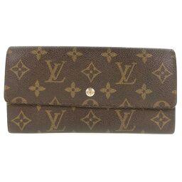 LOUIS VUITTON Louis Vuitton Pochette Portomonet Credit M61724 Monogram Canvas Brown 881AN Engraved Unisex Wallet [Used] B-Rank