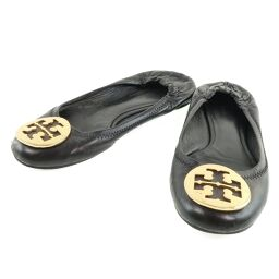 Tory Burch Flat Shoes Leather Black Women's Other Shoes [Used]