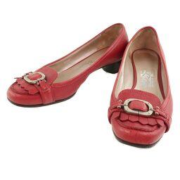 Salvatore Ferragamo RF7214830 Leather Red Women's Pumps [Used]