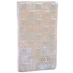 CHANEL Icon Leather Beige Women's Wallet [Used] B-Rank