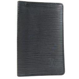 LOUIS VUITTON ルイ・ヴィトン ポシェットカルトヴィジット M56572 エピレザー 黒 ユニセックス カードケース【中古】