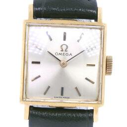 <html>    <body>   OMEGA オメガ K18イエローゴールド×レザー 手巻き レディース ゴールド文字盤 腕時計     【中古】        </body> </html>