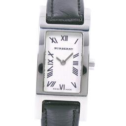 BURBERRY バーバリー 14000L ステンレススチール×レザー クオーツ レディース 白文字盤 腕時計【中古】