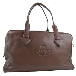LOEWE Loewe Heritage Calf Brown Men's Tote Bag [Used]
