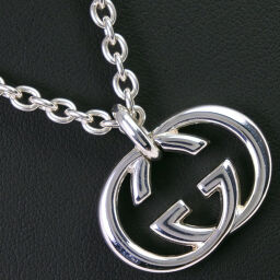 GUCCI Gucci Interlocking G Silver 925 Unisex Necklace [Used] A-Rank