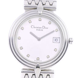 <html>    <body>   Dior クリスチャンディオール D69-100 ステンレススチール×ラインストーン クオーツ メンズ 白文字盤 腕時計【中古】Aランク        </body> </html>