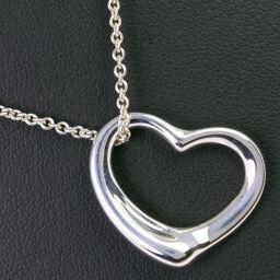 TIFFANY & Co. Tiffany Open Heart Elsa Peretti Silver 925 Women's Necklace 【Pre-owned】 A Rank