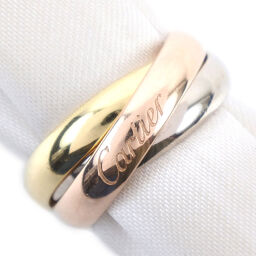 CARTIER Cartier Trinity Triple K18 Gold No. 8 YG / PG / WG Ladies Rings / Rings [Used]
