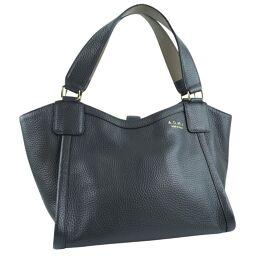 ADMJ Accessois ADMJ Bag Leather Gray Ladies Handbag [Used] A rank