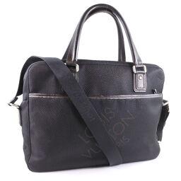 LOUIS VUITTON Louis Vuitton Yak 2WAY Shoulder M93082 Damier Jean Canvas Black Men's Handbag [Used]