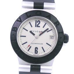 <html>    <body>   BVLGARI ブルガリ アルミニウム AL32A ステンレススチール×ラバー クオーツ ユニセックス 白文字盤 腕時計【中古】        </body> </html>
