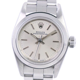 ROLEX Rolex Oyster Perpetual U No. 67180 Stainless Steel Self-winding Ladies Silver Dial Watch [Used] A-Rank