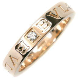 BVLGARI Bvlgari Double Logo 1P Diamond K18 Yellow Gold x Diamond No. 16 Ladies Ring / Ring [Used] A rank