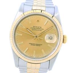ROLEX ロレックス デイトジャスト コンビ 16233 K18イエローゴールド×ステンレススチール 自動巻き メンズ ゴールド文字盤 腕時計【中古】Aランク