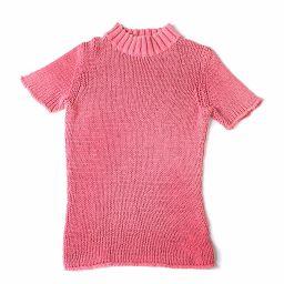 バーバリー BURBERRY ニット セーター  セーター 半袖 2  綿 ピンク レディース 027727