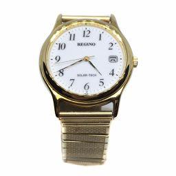 シチズン CITIZEN 腕時計 レグノ ソーラー ホワイト文字盤  メタル ゴールド メンズ 029714