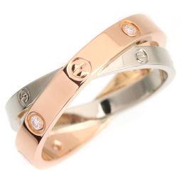 カルティエ CARTIER ビーラブ リング・指輪 *1 TO  K18ホワイトゴールド/K18ピンクゴールド/ダイヤモンド 17号 レディース 080937