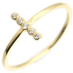 アーカー AHKAH クロスレイ  リング・指輪 AB-1243  K18イエローゴールド/ダイヤモンド ダイヤモンド0.02ct 6月7日号 レディース 081224-13D5