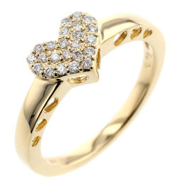 Ponte Vecchio Heart 0.13ct Ring / Ring K18 Yellow Gold / Diamond Diamond 0.13ct No. 8 Gold Ladies K00113722