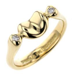 ティファニー TIFFANY&Co. ビーン 2P リング・指輪  K18イエローゴールド/ダイヤモンド ダイヤモンド 7号 ゴールド レディース K00114909