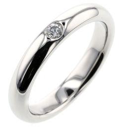 Harry Winston HARRY WINSTON Round marriage ring 1P ring / ring Platinum PT950 / Diamond Diamond No.6 Silver Ladies K00122988