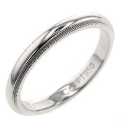 ティファニー TIFFANY&Co. ミルグレイン 幅約3mm リング・指輪  プラチナPT950 19号 シルバー メンズ K00122992