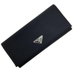 プラダ PRADA 長財布 M201  ナイロン/レザー NERO ブラック レディース K00128260