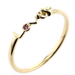Aker AHKAH LOVE Isetan Limited 1P Ring / Ring K18 Yellow Gold / Ruby Ruby 6 Gold Ladies K00212140